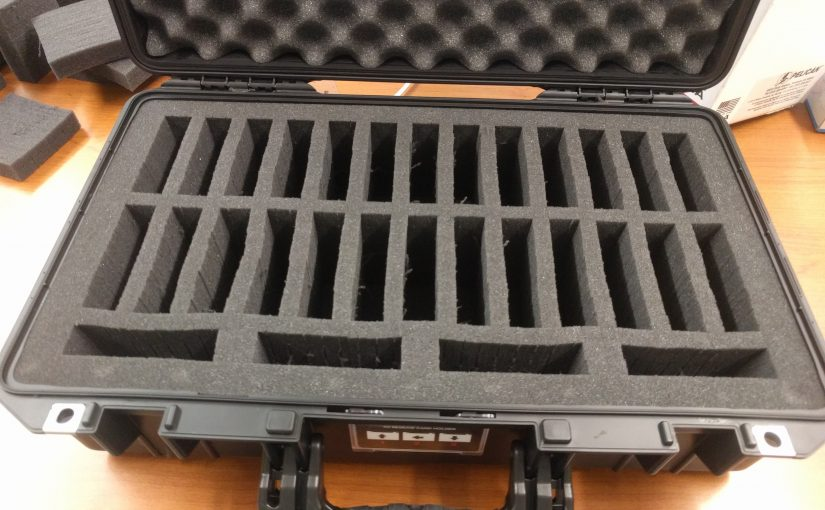 Storing 3.5″ hard drives in a Pelican case