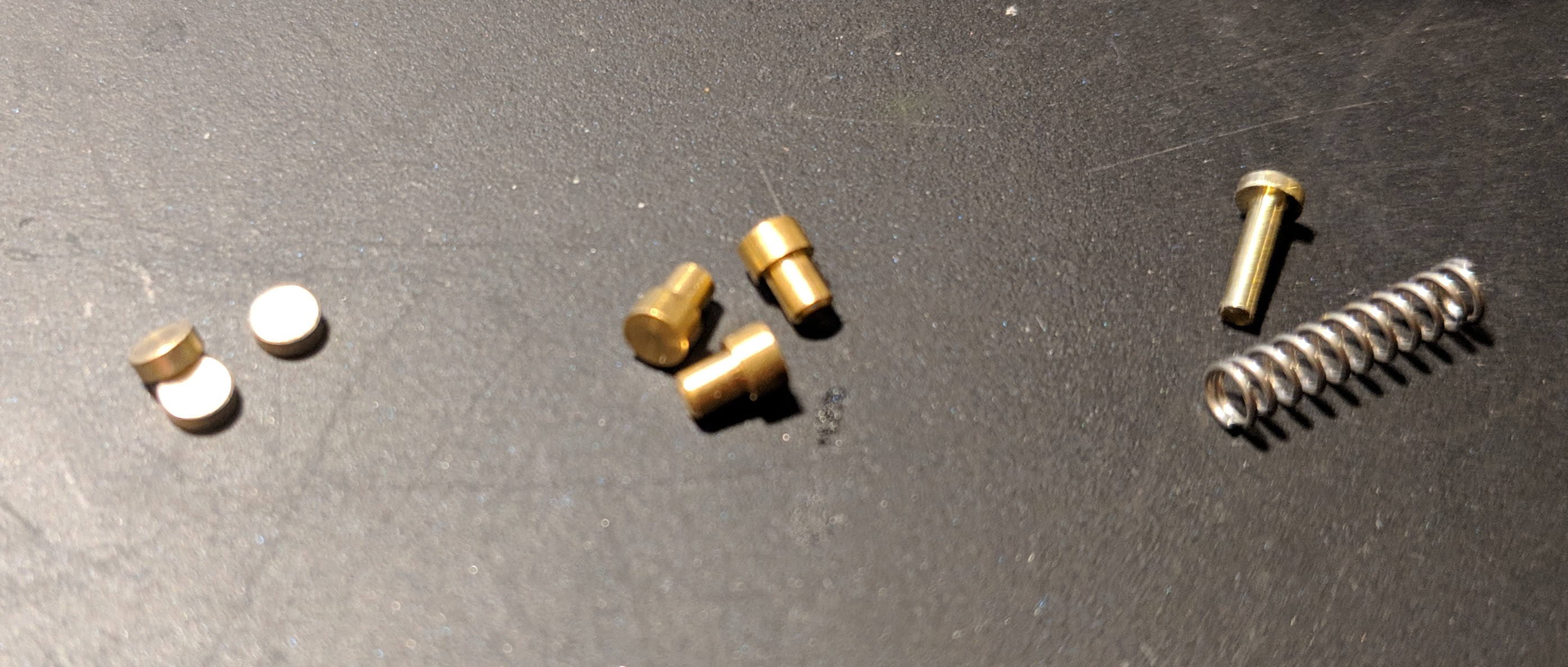 Master wafers, T-pins, and high tension spring with a T-pin.
